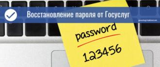 госуслуги как восстановить пароль